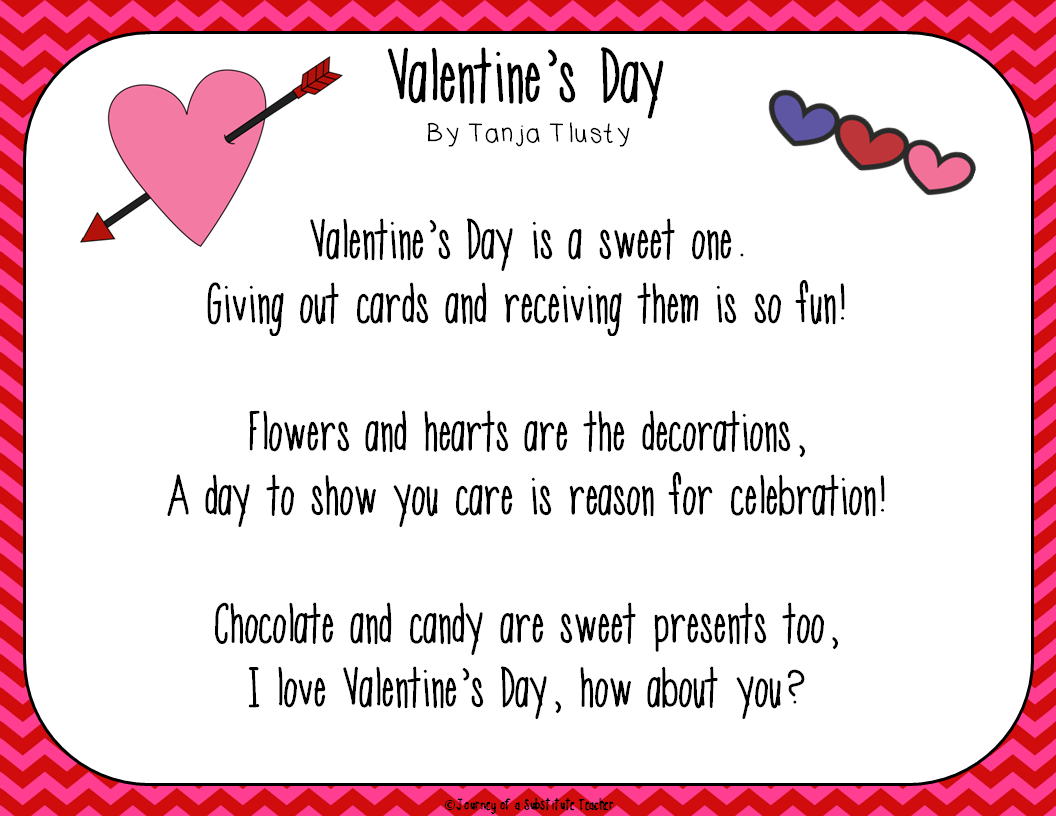 Valentine S Day Poems And A Freebie
