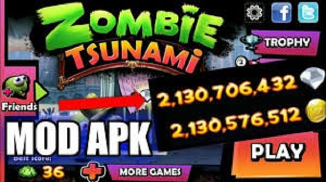 Cara Cheat Zombie Tsunami