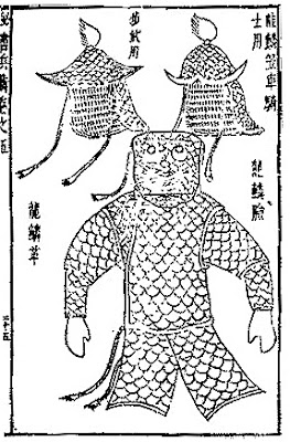 Ming Chinese leather scale armour