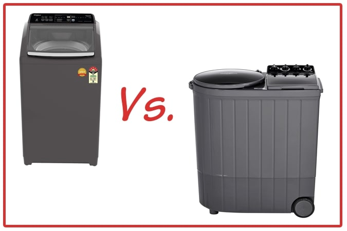 Whirlpool Royal Plus (left) and Whirlpool ACE XL (right) Washing Machine Comparison.