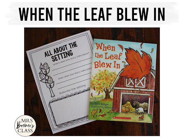 When the Leaf Blew In book study unit with companion activities to go with the fall book by Steve Metzger. Packed with fun literacy ideas and standards based guided reading activities. Common Core aligned. Kindergarten and First Grade