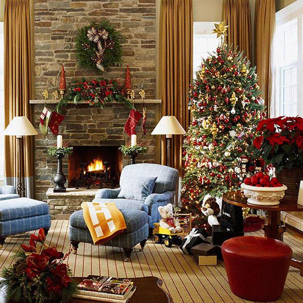 hogares frescos ideas de decoracin de navidad el espritu de la navidad en su sala de estar