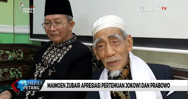 KH Maimoen Zubair Apresiasi Pertemuan Jokowi dan Prabowo
