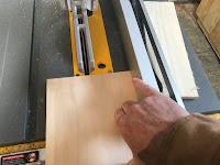 Cutting 4X4 squares of poplar