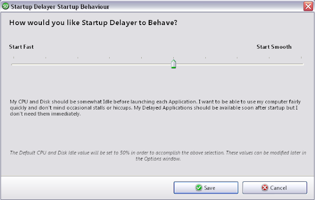Startup Delayer Startup Behaviour Slider Screenshot