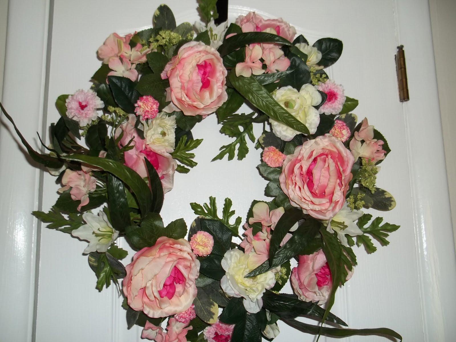 Big spring flower wreath simply sweet home big spring flower wreath mightylinksfo