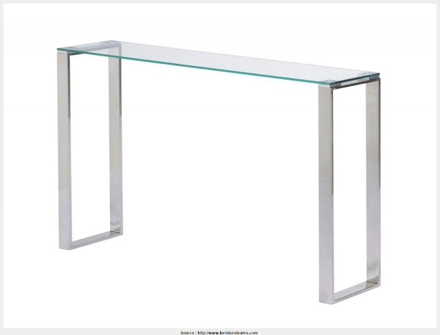 Great Narrow Glass Console Table Graphic