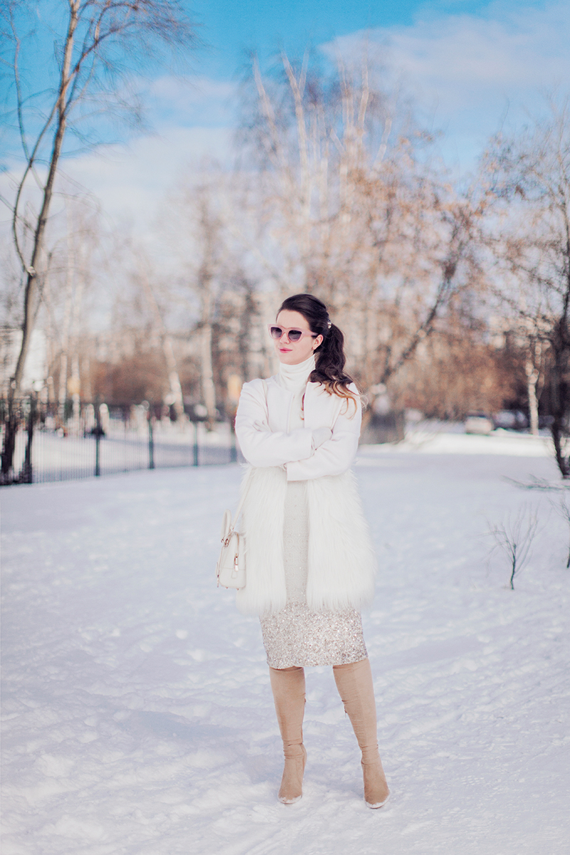 Chicwish Snow White Faux Fur Coat