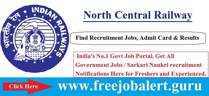 Railway, RRB Recruitment, North Central Railway, Sports Quota, Group C, north central railway logo