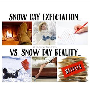 Snow day ideas vs snow day reality