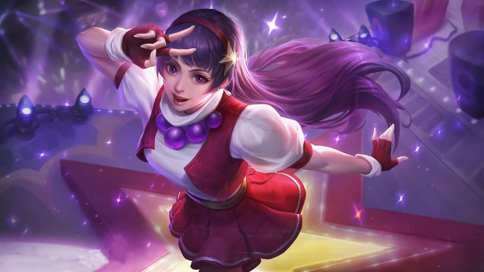 Wallpaper Guinevere Athena Asamiya KOF Skin Mobile Legends HD for PC
