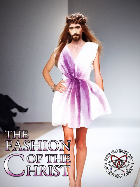 Jesus Christ on the fashion catwalk
