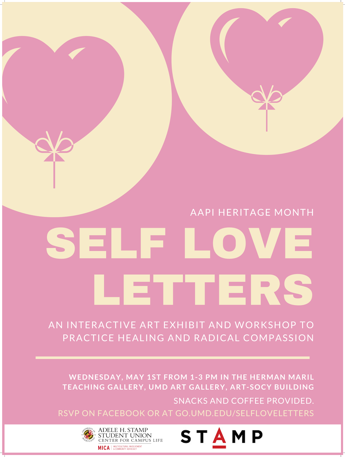 U  of Maryland Honors College: Self Love Letters, an Interactive Art