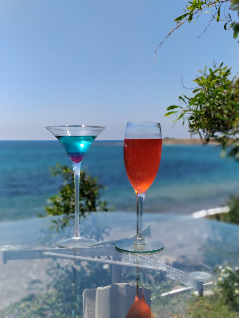 cocktails at Bonamare beach bar, Cyprus