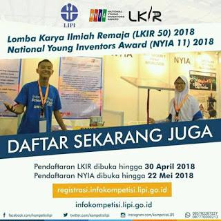 Lomba Karya Ilmiah Remaja (LKIR) Nasional 2018 di LIPI Gratis