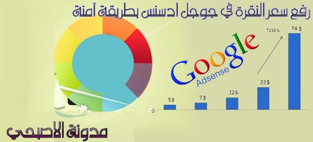 رفع سعر النقرة في جوجل ادسنس بطريقة آمنة وشرعيه