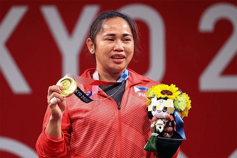 ICYMI: The Olympic Gold Medal that Hidilyn Diaz's captured is made out of recycled electronic devices
