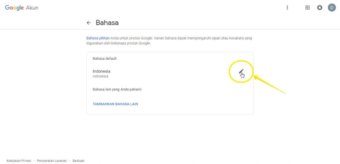 Mengganti Tampilan Bahasa Dashboard Blogger