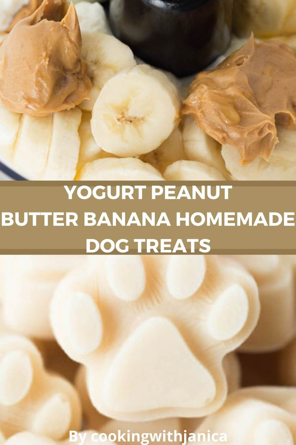 Yogurt Peanut Butter Banana Homemade Dog Treats