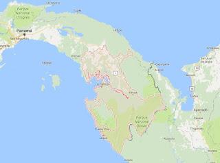 Mapa Región de Darién