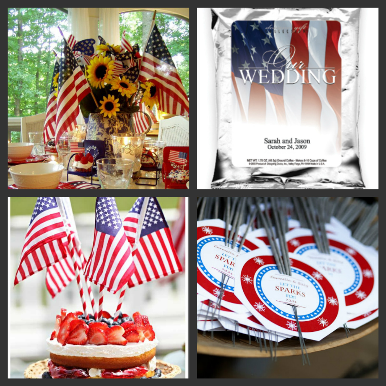 Third Wedding Ideas: Weddings Are Fun Blog: More July 4th Wedding Ideas