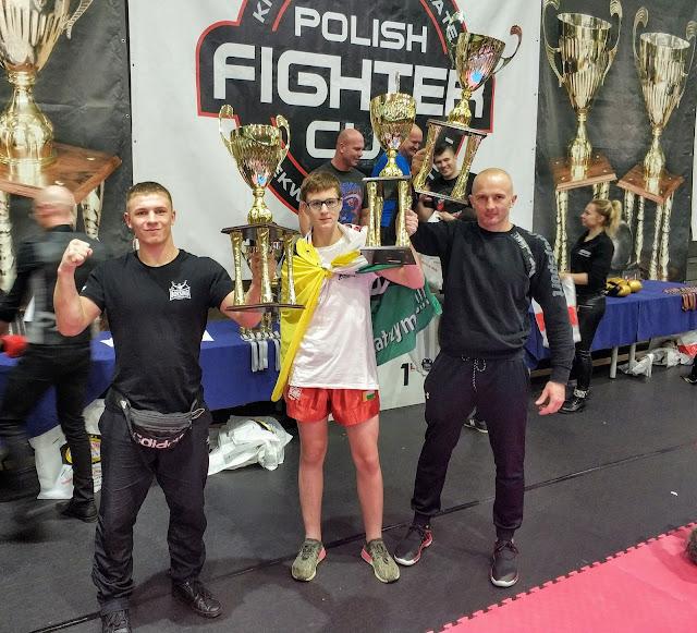 Polish Fighter Cup 8, Szczecin, kickboxing, PZKB, SKF Boksing Zielona Góra, sport, złoto, Damian Tyszkiewicz, Jakub Zimoch, Sławomir Malik,