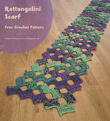 Rettangolini Scarf - free crochet pattern by Knitting and so on