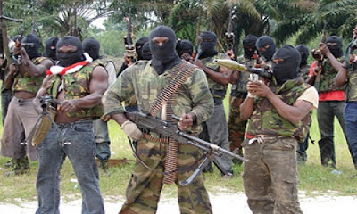 Niger Delta Militants kill three soldiers in ambush at checkpoint Nembe, Bayelsa State.