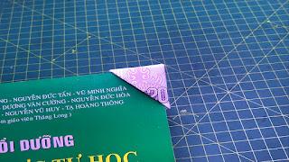 xếp tiền giấy bookmark tam giác money origami triangle bookmark