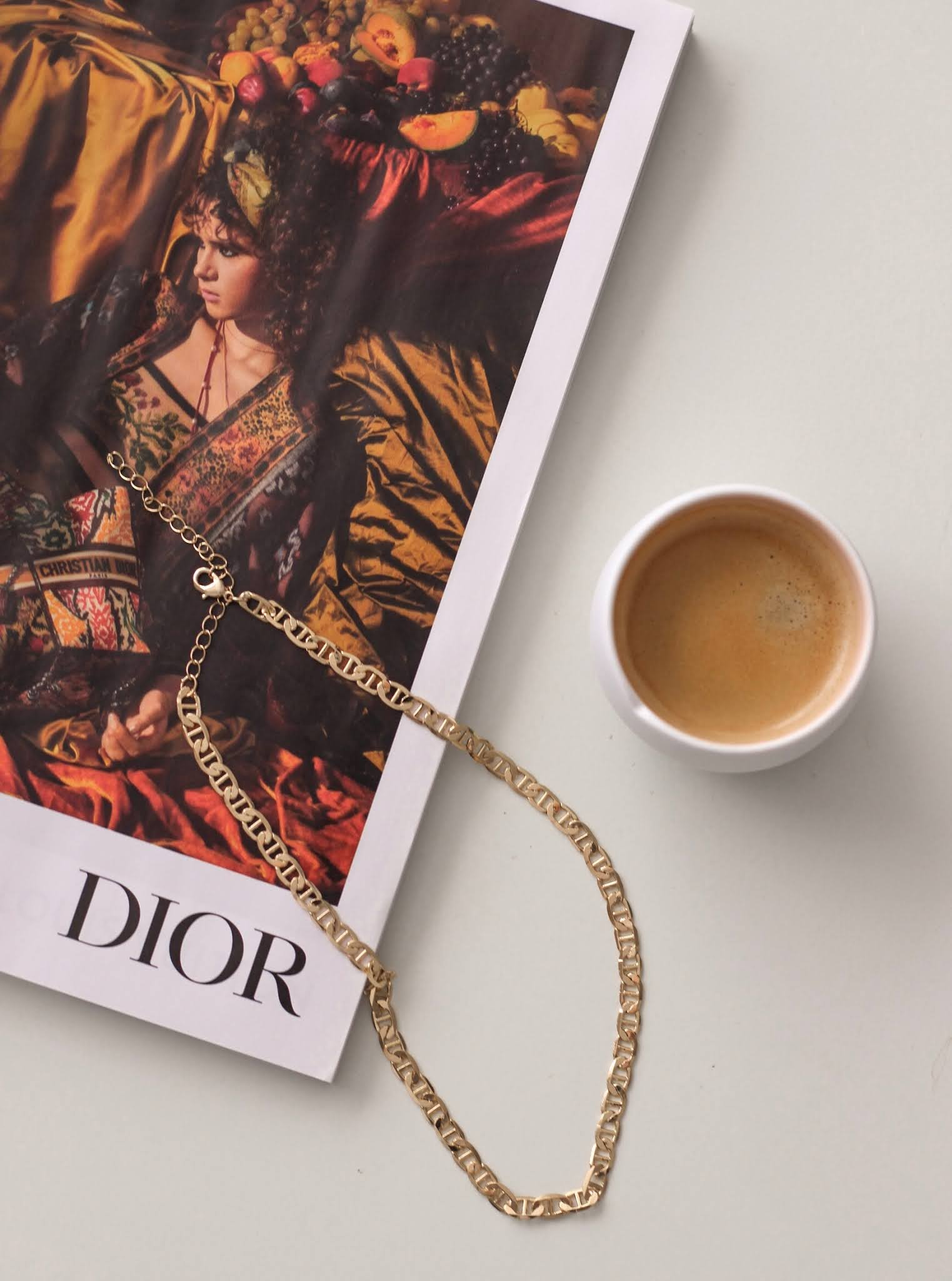 dior dupe necklace