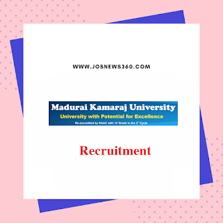 MKU Recruitment 2019 for Junior Research Fellow/Project Fellow