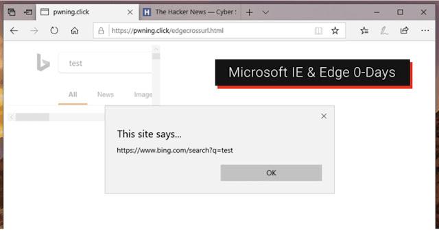 [Cảnh Báo] Thông tin chi tiết lỗ hổng zero-day trên Microsoft Edge và IE được công bố, chưa có bản vá lỗi - CyberSec365.org