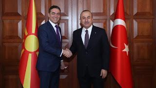 """Τα Σκόπια στην αγκαλιά του Ερντογάν: Ο """"θείος"""" Τσαβούσογλου και στο βάθος ο εξοχότατος ΓΑΠ"""