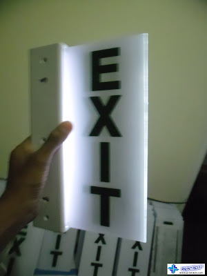 Lighted Acrylic Exit Sign