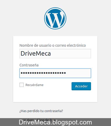 DriveMeca instalando WordPress en español en Linux