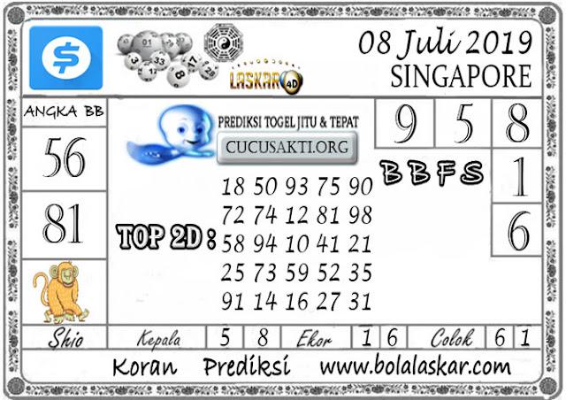 Prediksi Togel SINGAPORE LASKAR4D 08 JULI 2019