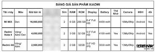 Xiaomi VN công bố danh sách smartphone chính hãng sẽ được bán tại Việt Nam