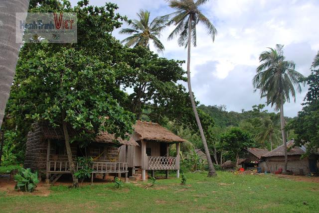 Góc xanh của khu du lịch Meng Naren tại Đảo Thỏ (Koh Tonsay)