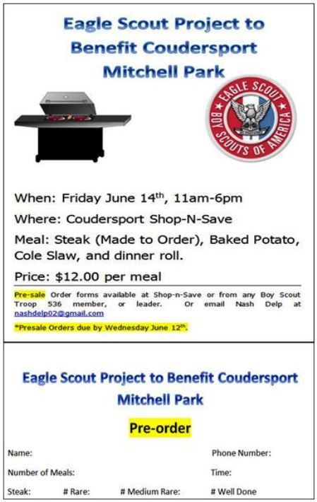 6-14 Steak Bake Coudersport Shop-&-Save