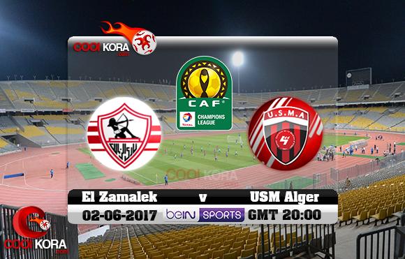 مشاهدة مباراة الزمالك وإتحاد الجزائر اليوم 2-6-2017 دوري أبطال أفريقيا