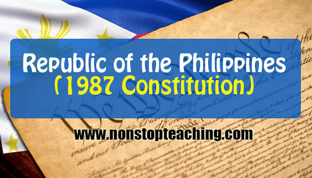 Republic of the Philippines 1987 Constitution