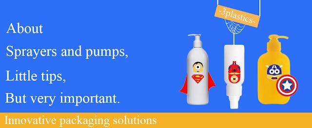 plastic bottles with pump dispenser and spray dispenser - 3plastics