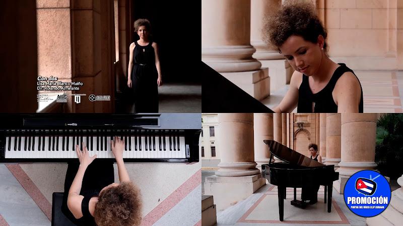Lisa María Blanco - ¨Con dos¨ - Videoclip - Director: Rolando Almirante. Portal Del Vídeo Clip Cubano. Música instrumental cubana. Piano. Cuba.