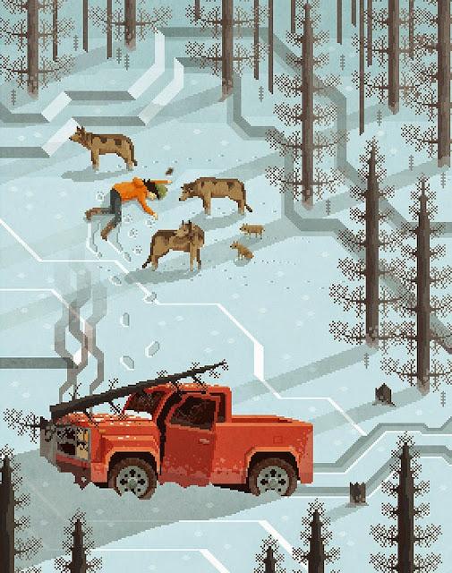 ilustraciones en pixel art por octavio navarro
