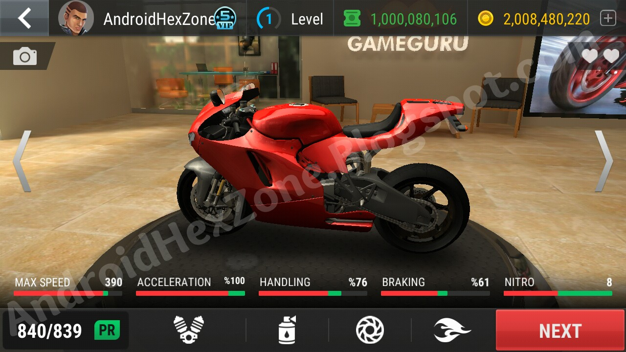 Racing Fever Moto Unlimited Coins,Tickets and VP Points,All