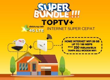 Berlangganan Top TV Dengan Internet XL Super Cepat