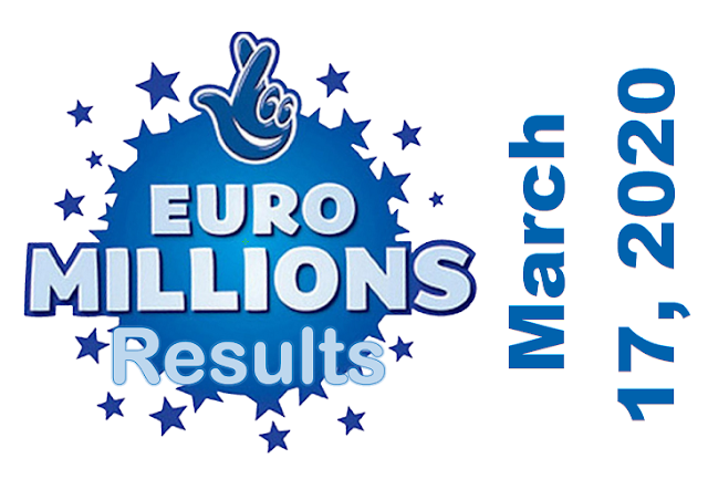 EuroMillions Results for Tuesday, March 17, 2020
