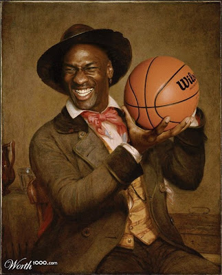 Retrato de epoca de figuras famosas de hollywood-MIchael Jordan