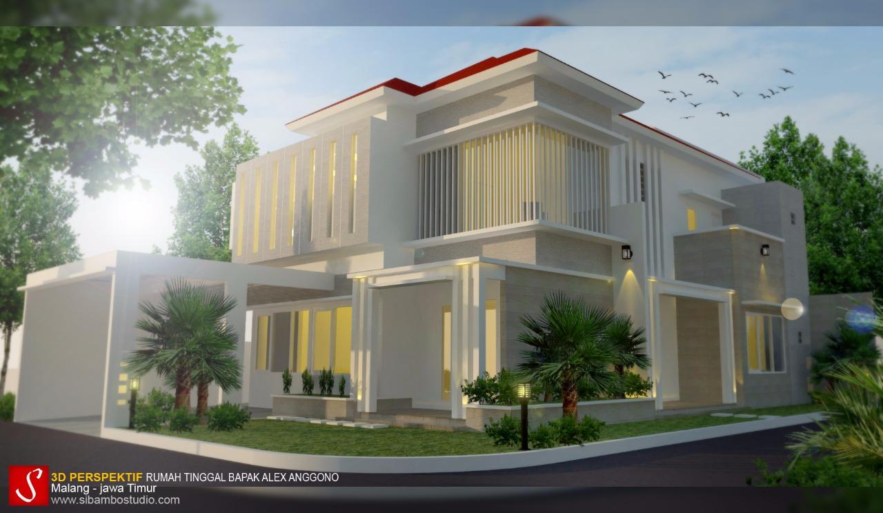 Inspirasi desain rumah hook bergaya minimalis modern 2 for Design rumah mimimalis modern