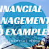 Financial management and examples